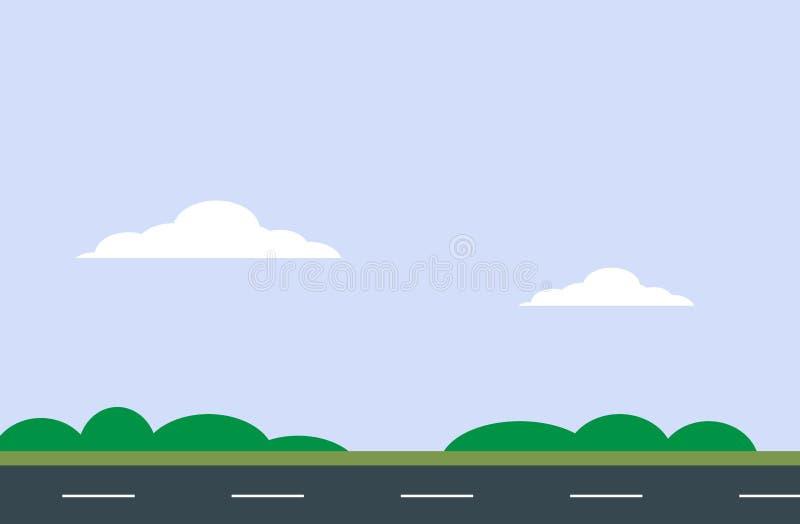 Wektorowy niebo i droga ilustracji
