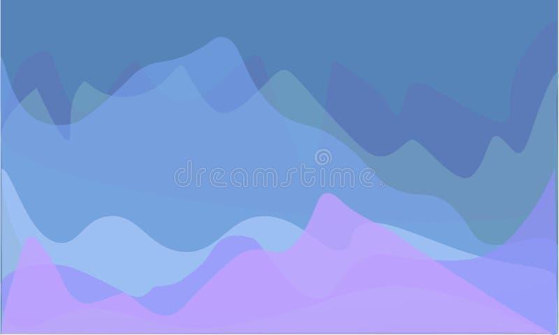 Wektorowy niski poli- krajobrazu 3d tło ilustracja wektor