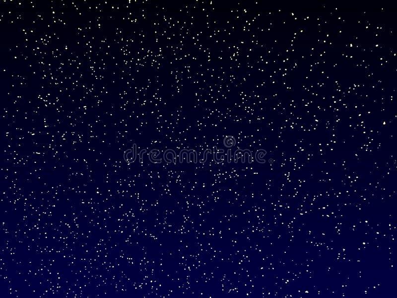 Wektorowy nocne niebo ilustracja wektor