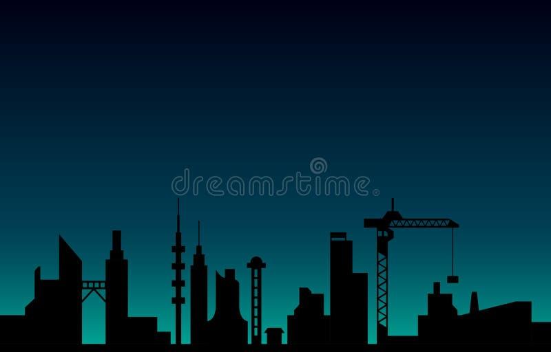 Wektorowy nocy miasto fotografia stock