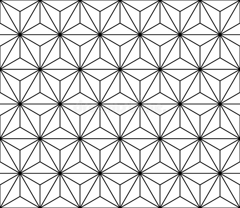 Wektorowy nowożytny bezszwowy święty geometria wzór, czarny i biały abstrakt ilustracja wektor