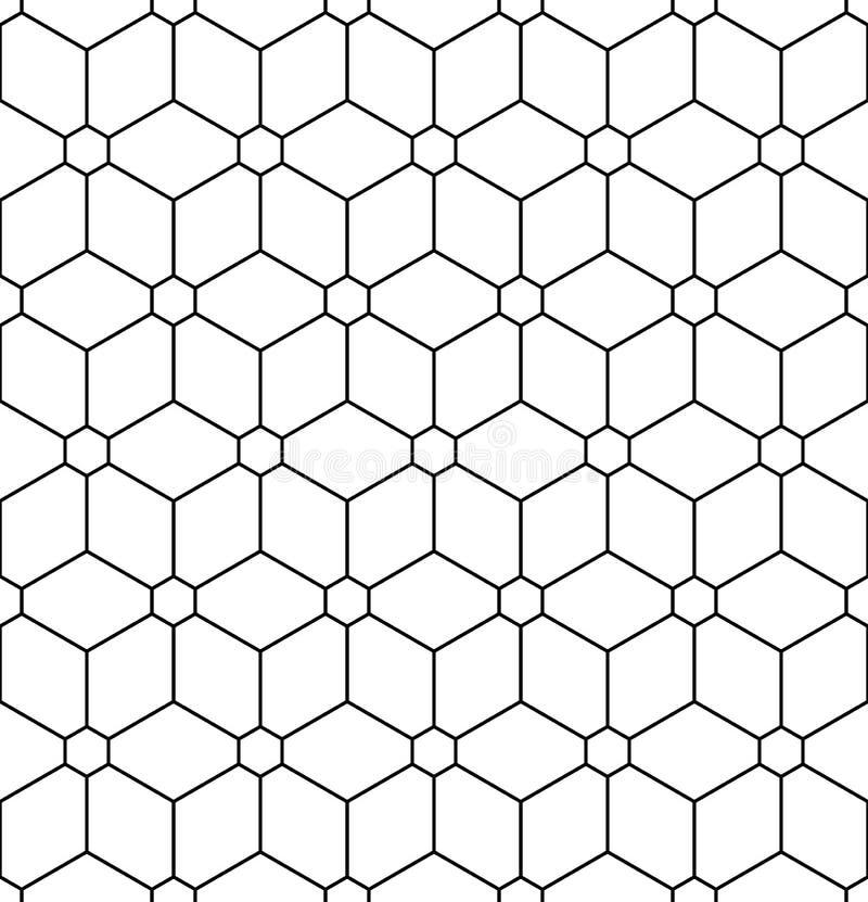 Wektorowy nowożytny bezszwowy święty geometria wzoru kwiat życie, czarny i biały abstrakt ilustracja wektor
