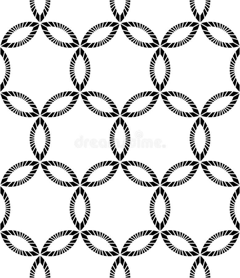 Wektorowy nowożytny bezszwowy geometria wzór, czarny i biały abstrakt royalty ilustracja