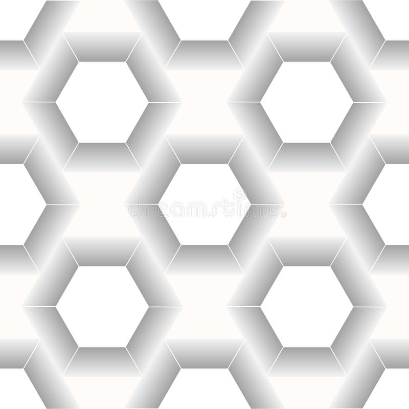 Wektorowy nowożytny bezszwowy geometria wzoru sześciokąt, czarny i biały abstrakcjonistyczny geometryczny tło, modny druk, monoch ilustracja wektor