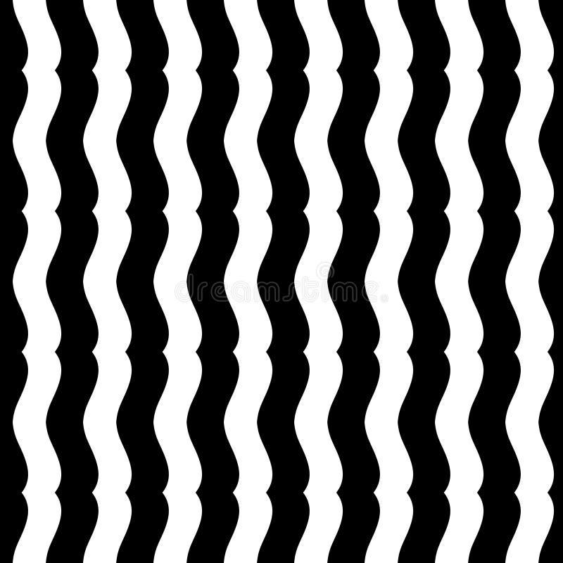 Wektorowy nowożytny bezszwowy geometria wzoru szewron, czarny i biały abstrakt ilustracja wektor