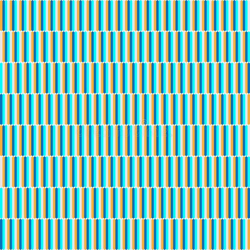 Wektorowy nowożytny bezszwowy multicolor wzór ilustracja wektor