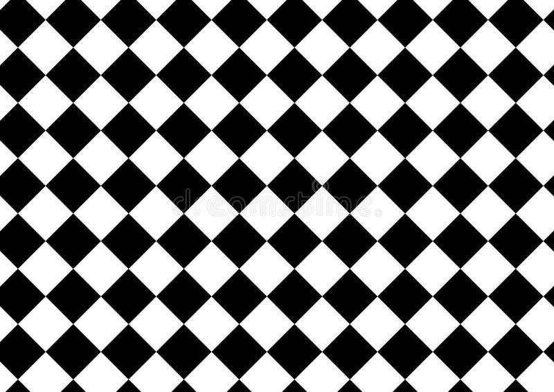 Wektorowy nowożytny deseniowy w kratkę, czarny i biały tekstylny druk, royalty ilustracja
