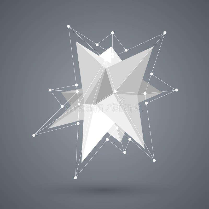 Wektorowy nowożytny geometryczny kształt Wieloboka tło royalty ilustracja