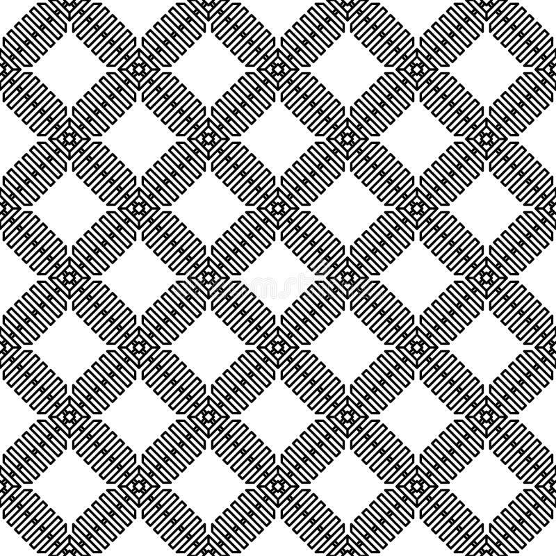 Wektorowy nowożytny komórka wzór na białym tle ilustracji