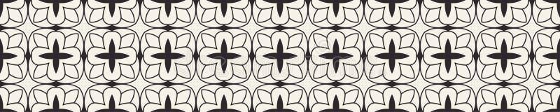 Wektorowy nowożytny ornamentacyjny wzór Abstrakcjonistyczny art deco bezszwowy monochromatyczny t?o ilustracja wektor