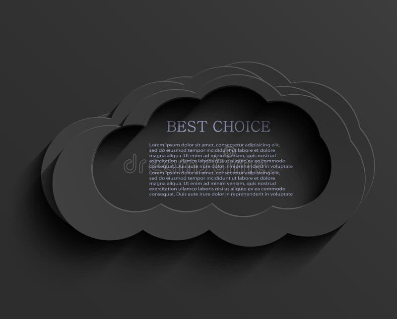 Wektorowy nowożytny zmrok chmury tło royalty ilustracja