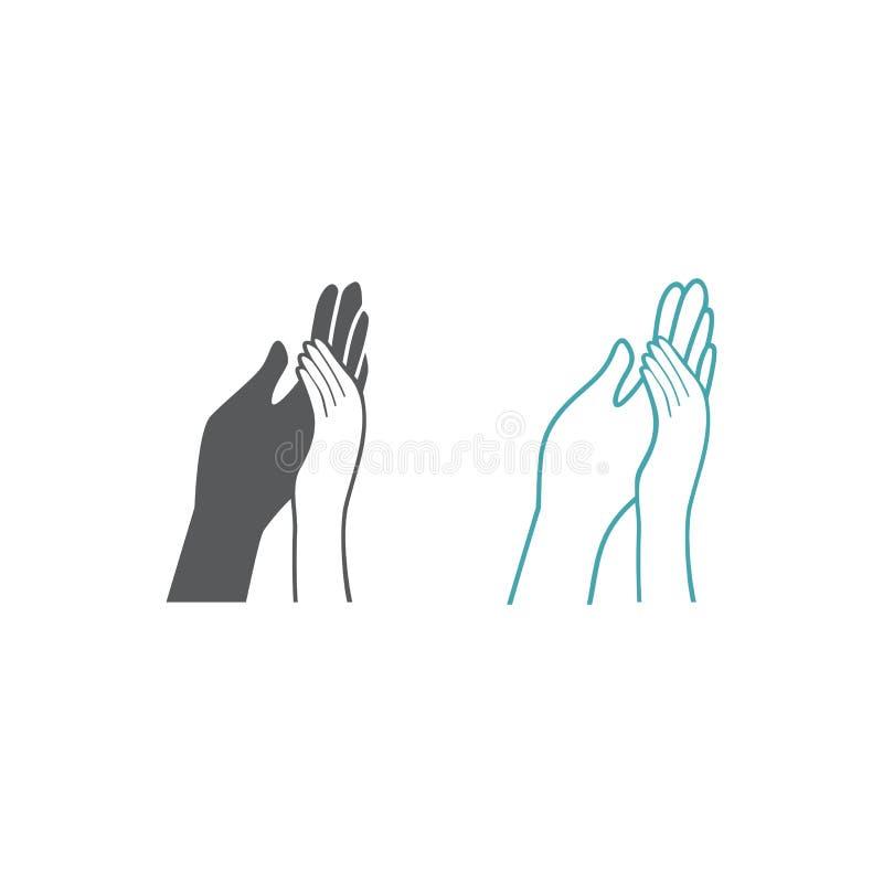 Wektorowy obrazek wyplatać ręki kobieta i mężczyzna ilustracja wektor