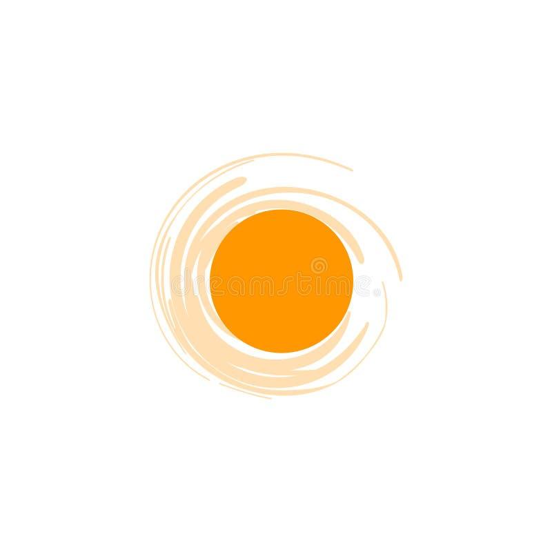 Wektorowy odosobniony słońce loga projekta szablon Abstrakt kropkuje symbol Round niezwykły kształt ilustracja wektor