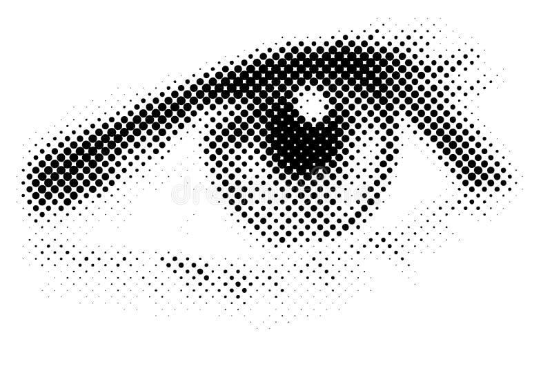 Wektorowy oko ilustracja wektor