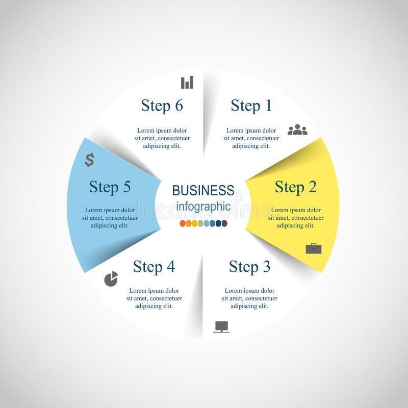 Wektorowy okrąg infographic ilustracja wektor