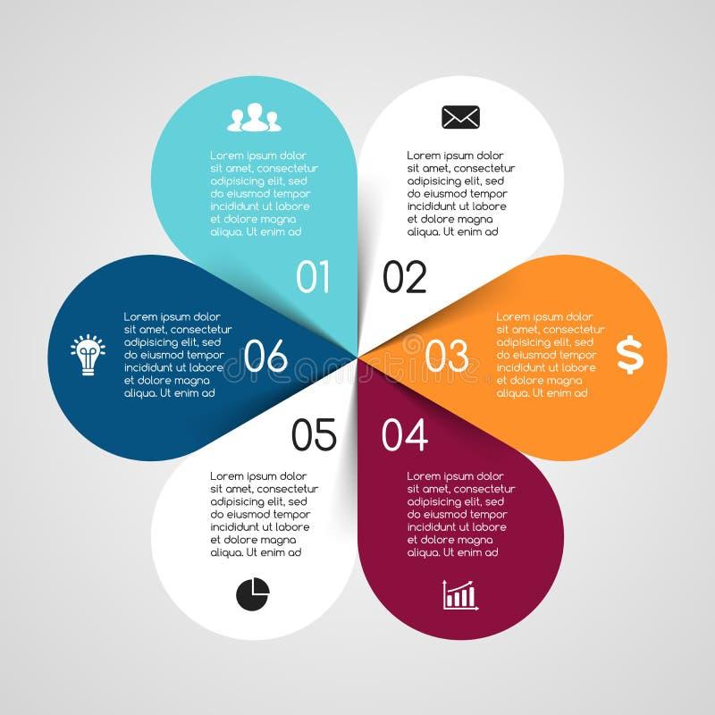 Wektorowy okrąg infographic Szablon dla cyklu ilustracja wektor