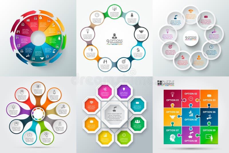 Wektorowy okręgu element dla infographic ilustracja wektor