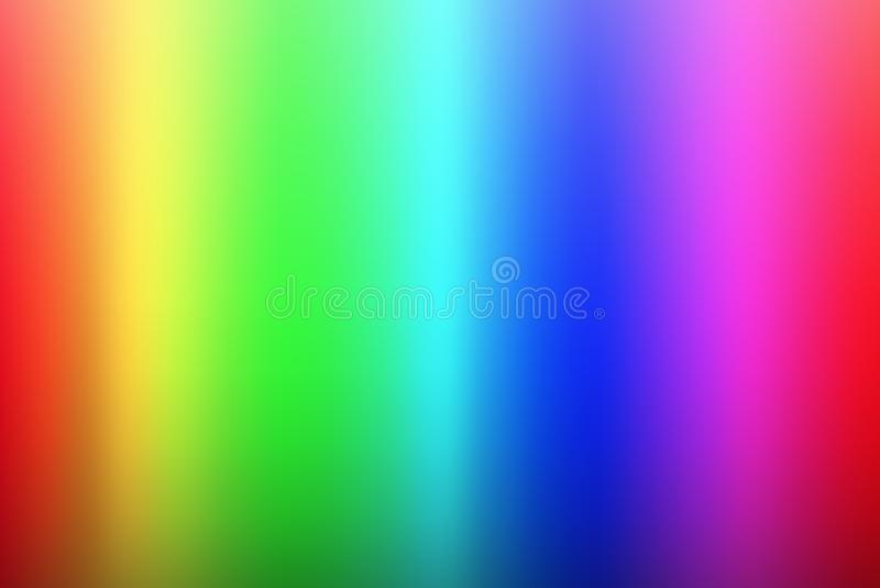 Wektorowy olor widma tło, tęcza barwi, paleta rgb ilustracji