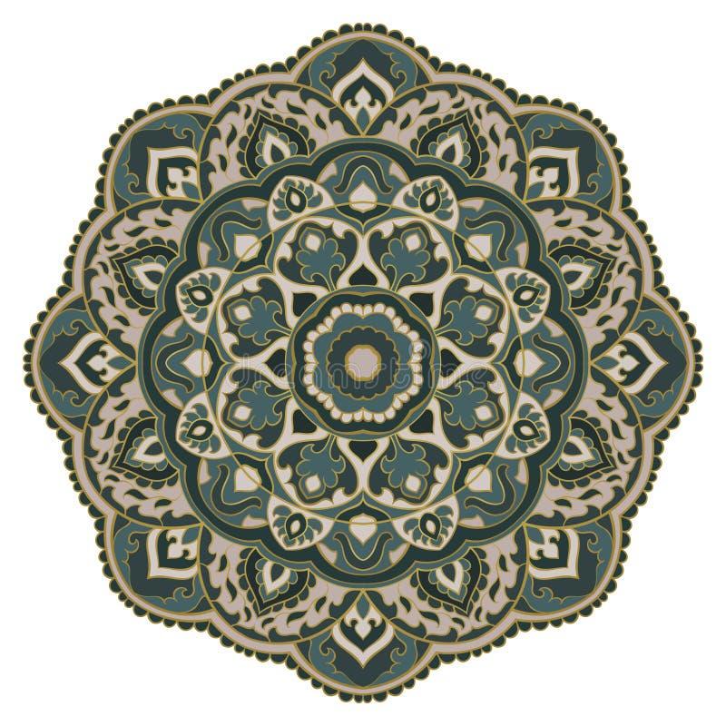 Wektorowy orientalny mandala ilustracja wektor