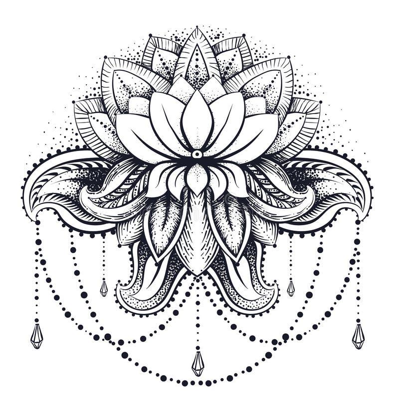 Wektorowy ornamentacyjny Lotus royalty ilustracja
