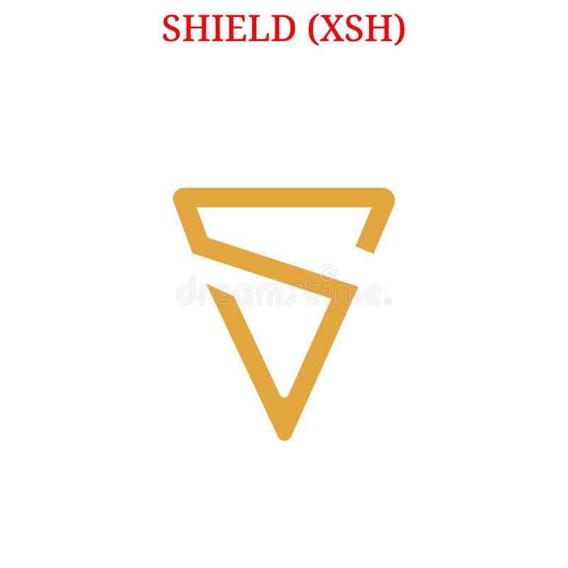 Wektorowy osłony XSH logo ilustracji