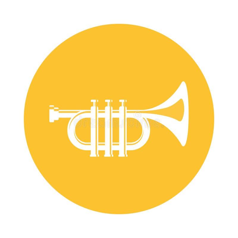 Wektorowy płaski ikona instrumentu muzycznego trąbki sieci projekt ilustracja wektor