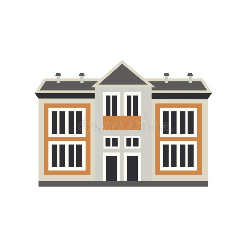 Wektorowy płaski intymny domowy chałupa budynek royalty ilustracja