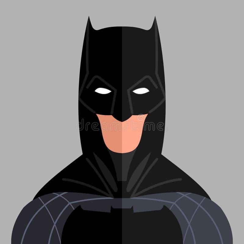 Wektorowy płaski portret bohatera mężczyzna ilustracja wektor