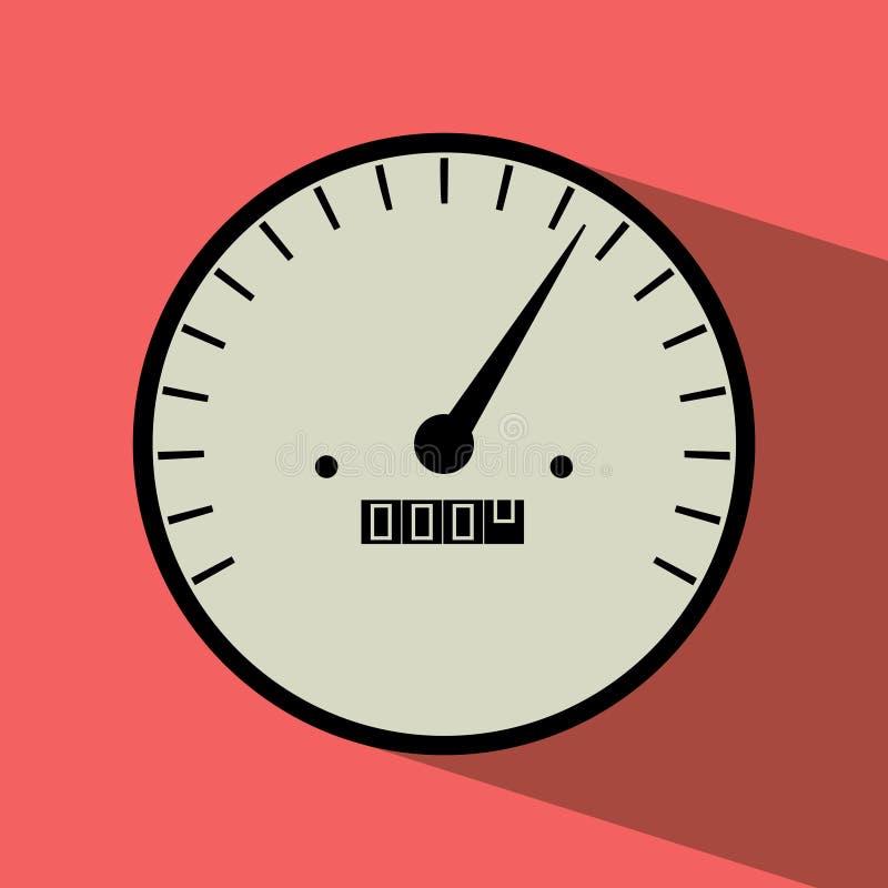 Wektorowy płaski projekt szybkościomierzy wymierniki z cieniem royalty ilustracja