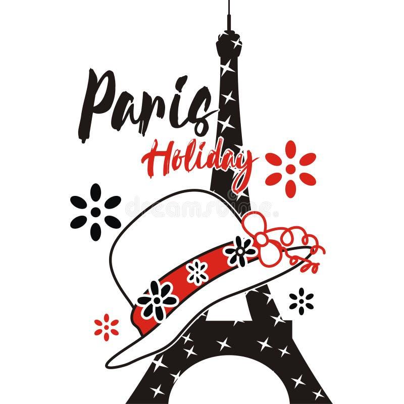 Wektorowy Paris wakacje dobrze umieszcza royalty ilustracja