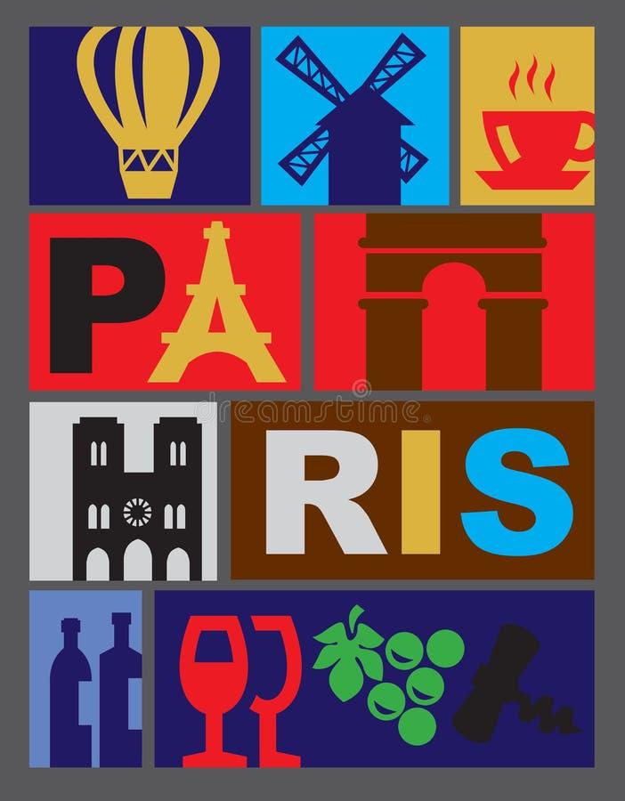 Wektorowy Paryż ilustracji