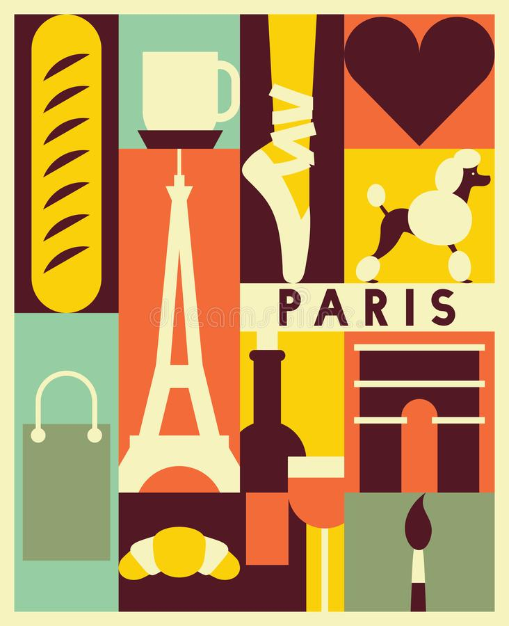 Wektorowy Paryski tło ilustracji
