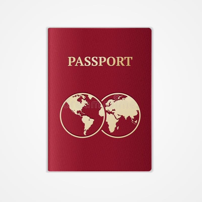Wektorowy paszport Płaski projekt ilustracja wektor
