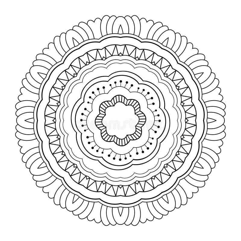 Wektorowy Piękny Deco mandala ilustracja wektor