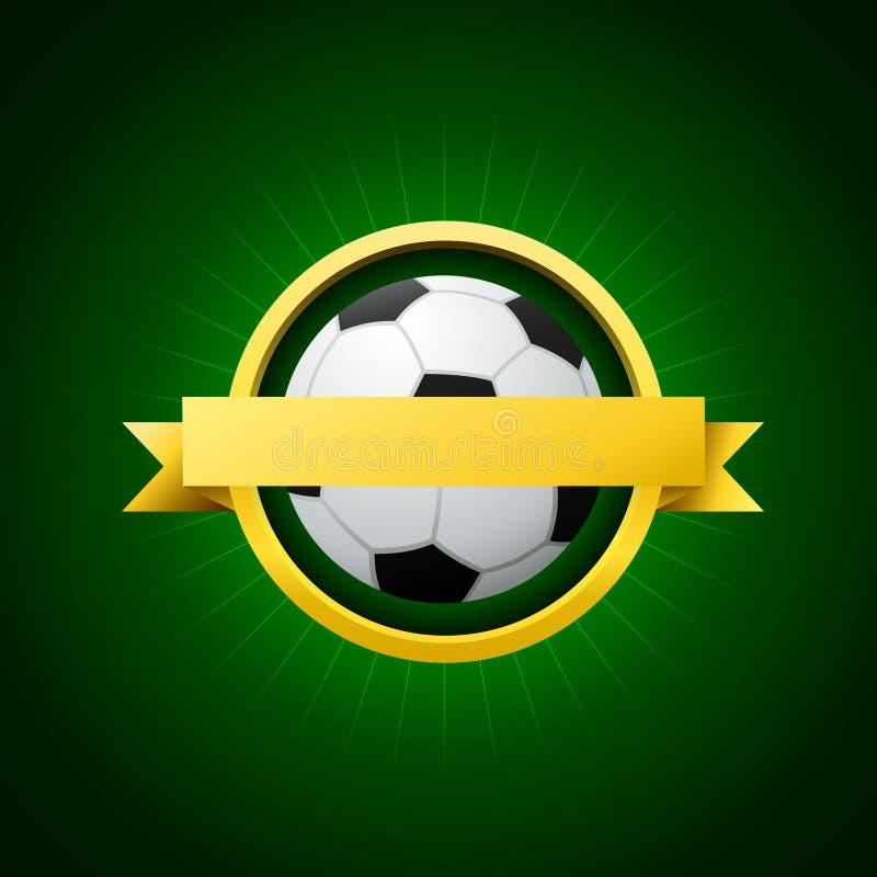 Wektorowy piłka nożna emblemat royalty ilustracja