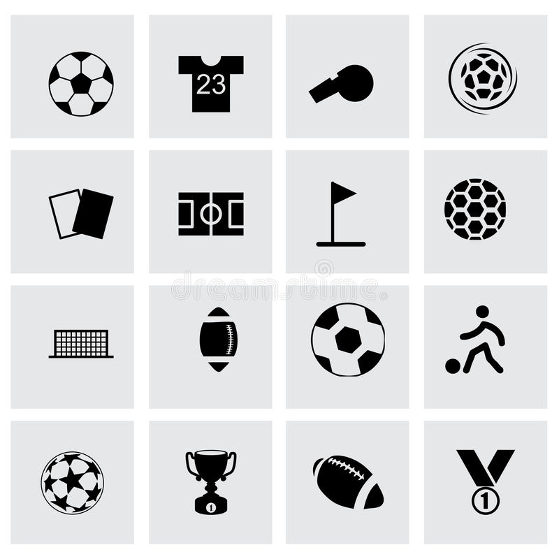 Wektorowy piłki nożnej ikony set ilustracji