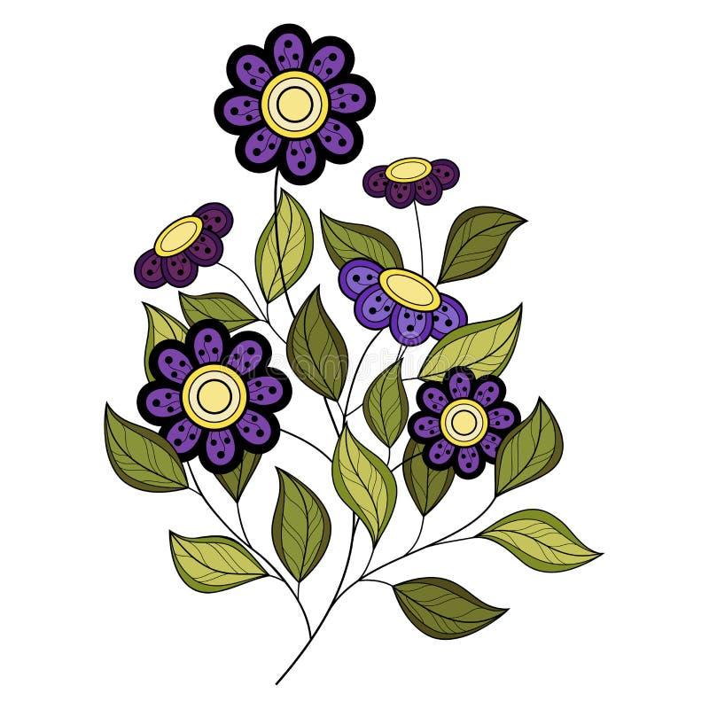 Download Wektorowy Piękny Barwiony Konturowy Kwiat Ilustracja Wektor - Ilustracja złożonej z wita, ręka: 57661651