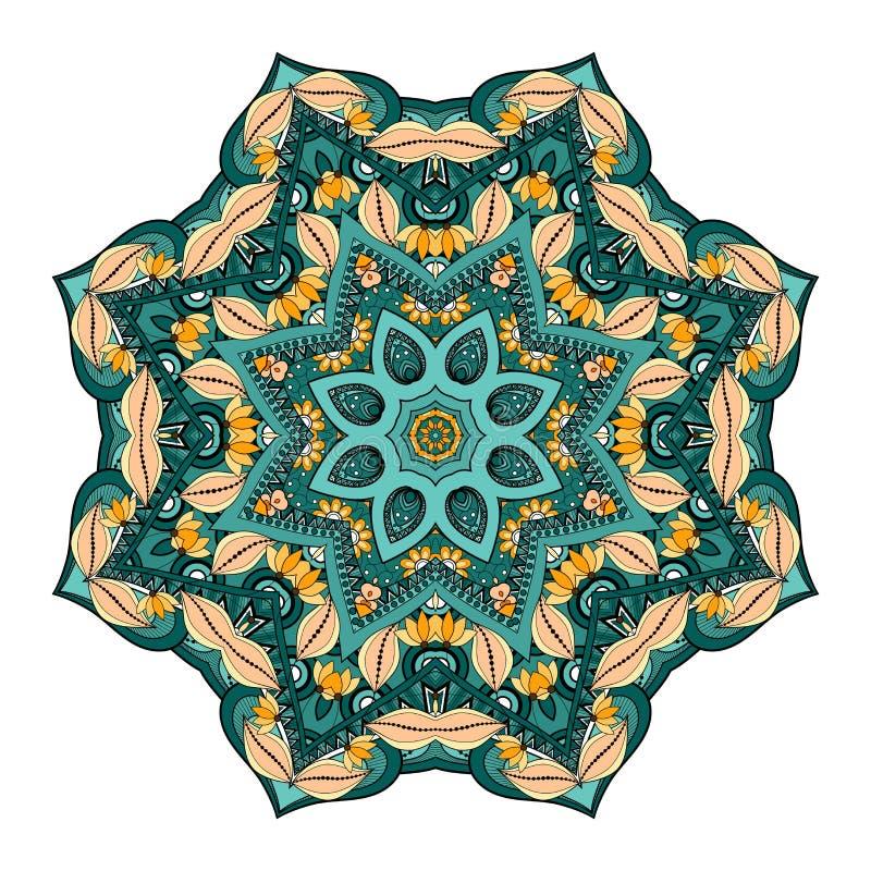 Download Wektorowy Piękny Deco Barwiony Mandala Ilustracja Wektor - Ilustracja złożonej z ikona, wyznaczający: 57661782