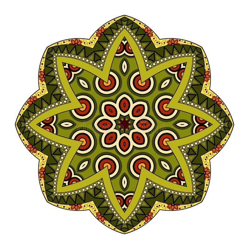 Download Wektorowy Piękny Deco Barwiony Mandala Ilustracja Wektor - Ilustracja złożonej z kwiat, moda: 57661795