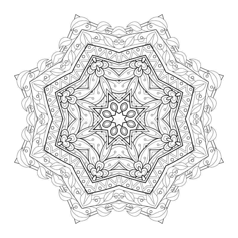 Download Wektorowy Piękny Deco Czerni Mandala Ilustracja Wektor - Ilustracja złożonej z dekoracyjny, świętowanie: 57661964