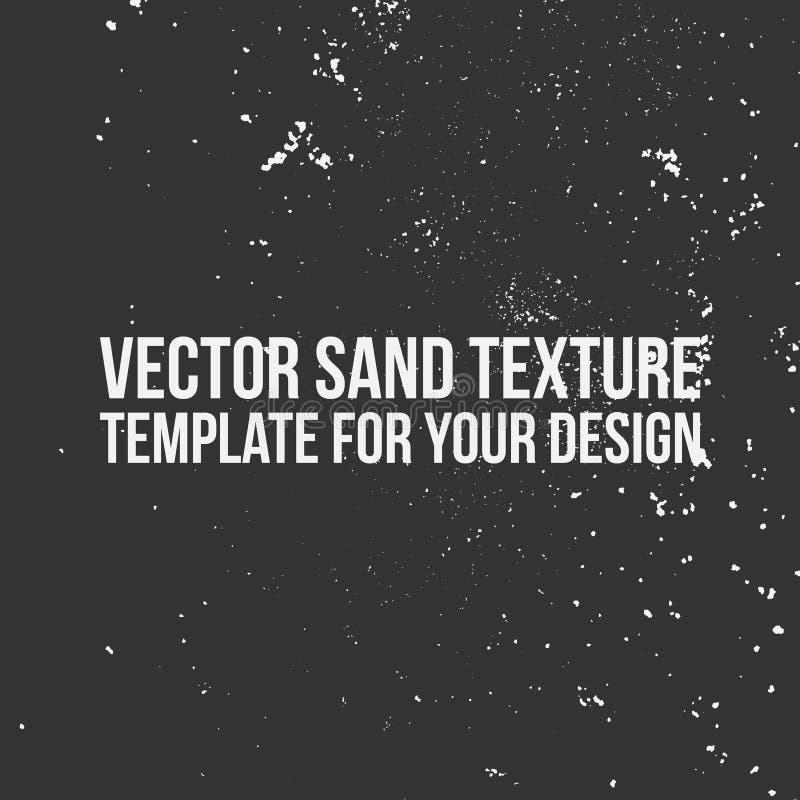 Wektorowy piasek tekstury szablon ilustracji