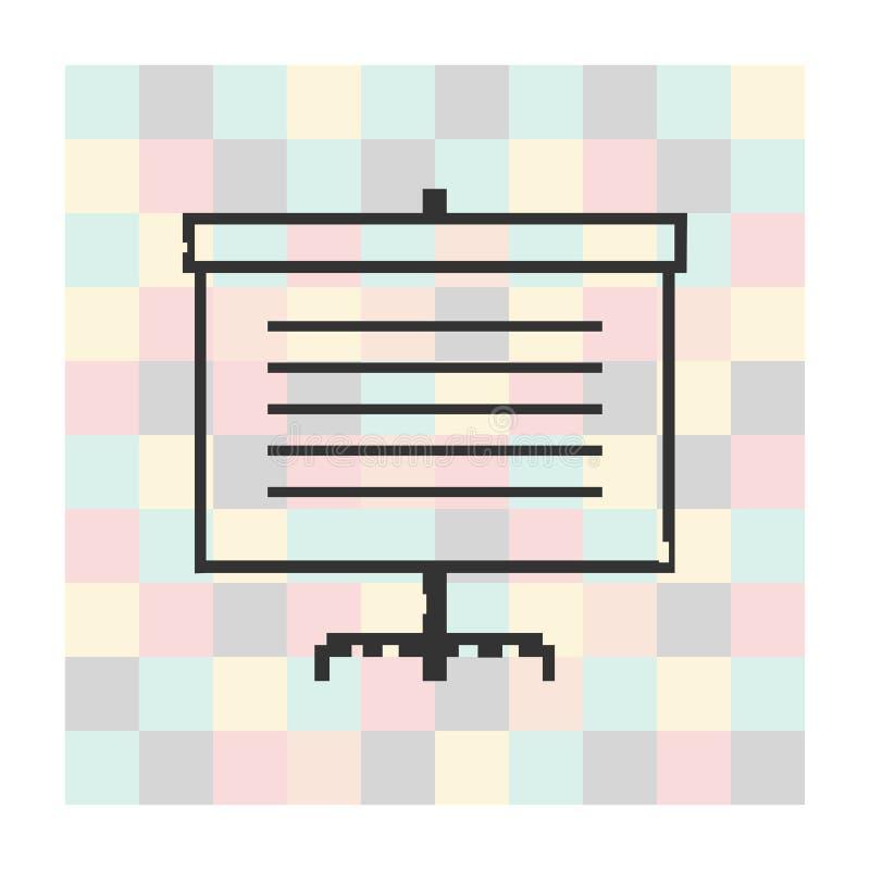 Wektorowy piksel ikony ekran dla prezentacj royalty ilustracja