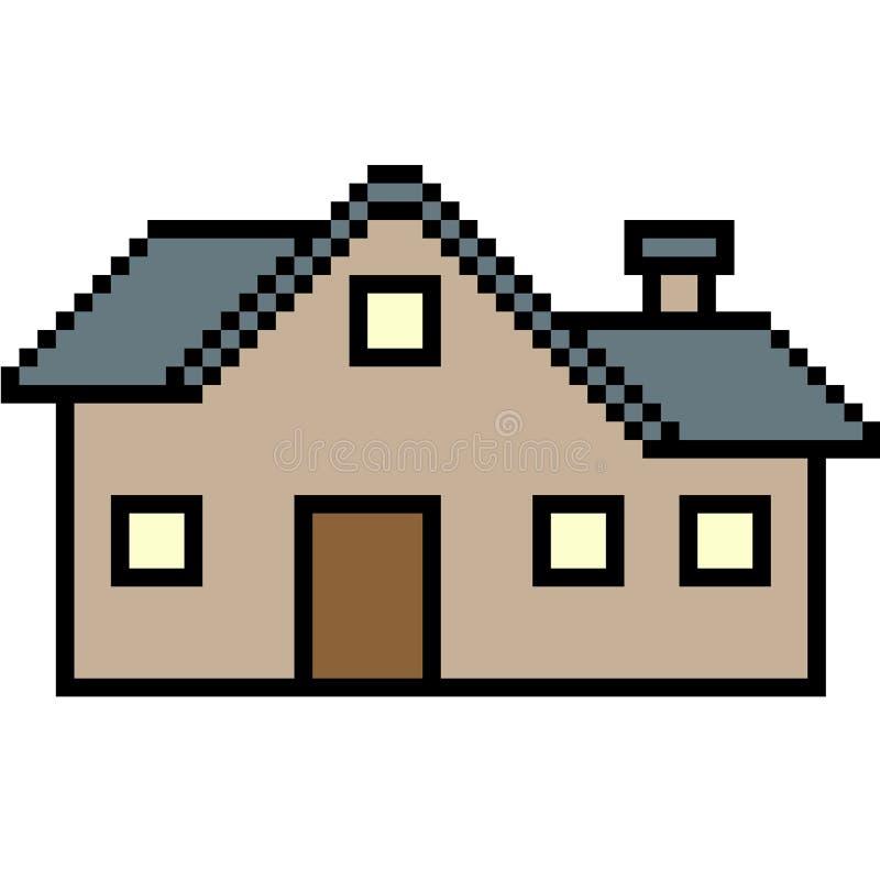 Wektorowy piksel sztuki dom ilustracji