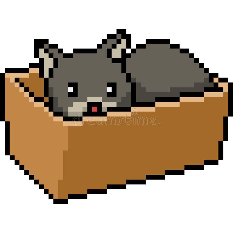 Wektorowy piksel sztuki kot ilustracja wektor