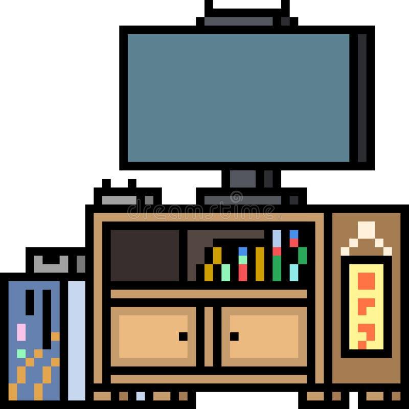 Wektorowy piksel sztuki meble royalty ilustracja