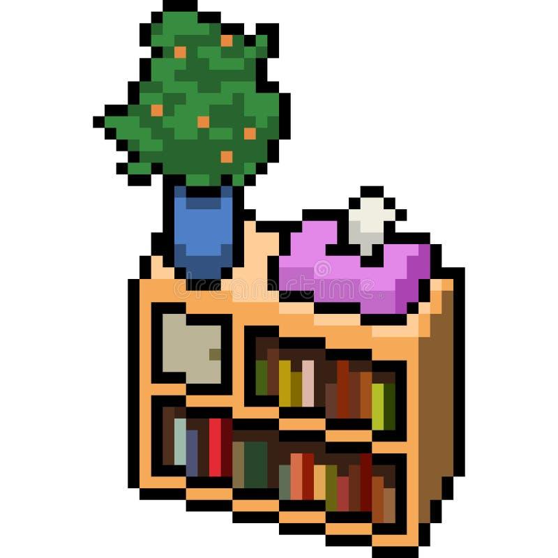Wektorowy piksel sztuki meble dom ilustracja wektor