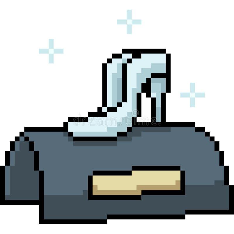 Wektorowy piksel sztuki mody but royalty ilustracja