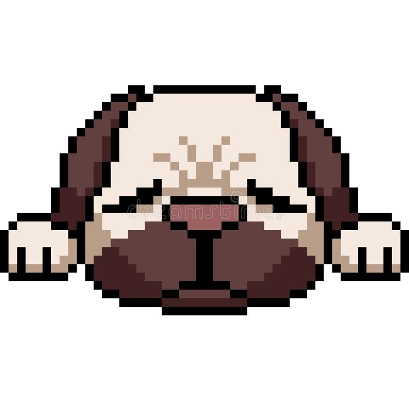 Wektorowy piksel sztuki mopsa pies ilustracja wektor