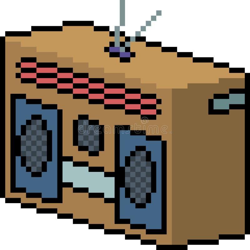 Wektorowy piksel sztuki radio royalty ilustracja