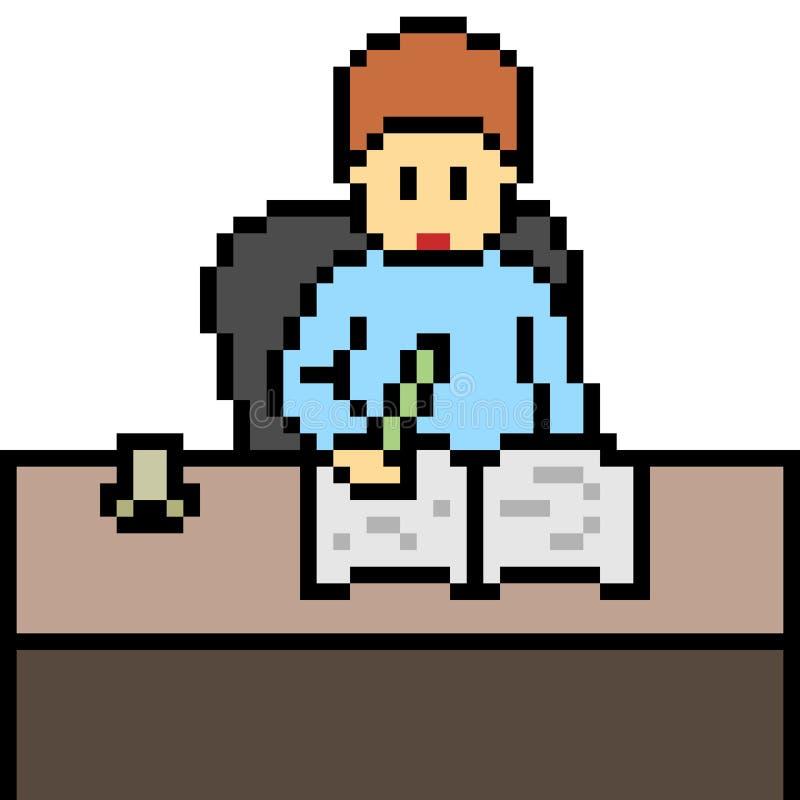 Wektorowy piksel sztuki writing royalty ilustracja